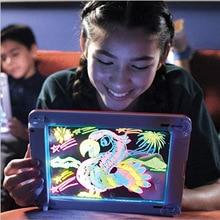 Math Toys 3D Magic Pad Reuse Create Art That Glows Board Children Writing Clipboard Gift Response Creative kids Toy