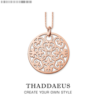 Ornament Puur Goud Kleur Ketting, 2017 Gloednieuwe Ts Chain Mode-sieraden Thomas Stijl Glam Bijoux Gift Voor Vrouwen vriend