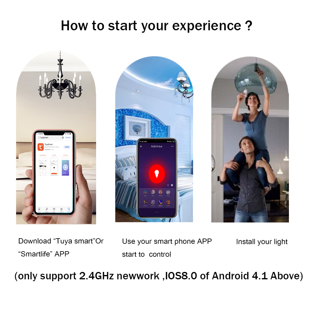 Boaz smart bulb Dimmable MR16 5W Led Bulb RGBW LED Spotlight Smart Home Led Spotlight Works with Amazon Alexa and Google home in LED Spotlights from Lights Lighting