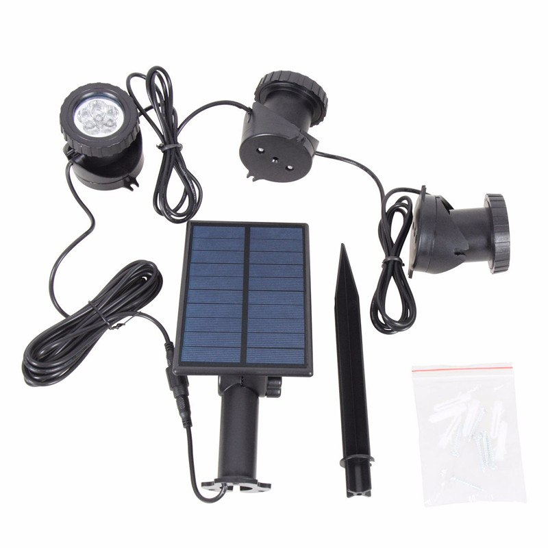 Outdoor decoration solar holiday RGB Led spot light in garden pathway Solar Wall Lights for Garden Driveway Pathway