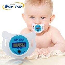 Детская Соска-термометр медицинский силиконовый соска ЖК Цифровой Детский термометр здоровье обеспечение безопасности термометр для дете...