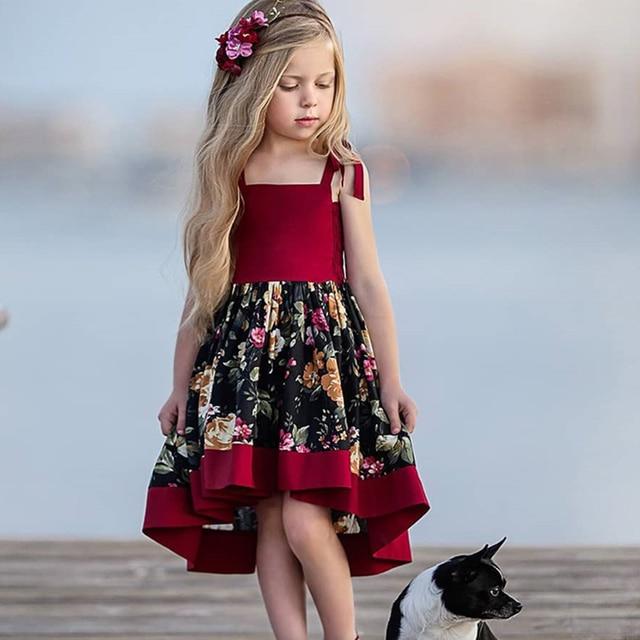 KAVKAS Sling Dresses Cotton Sleeveless Princess Dress
