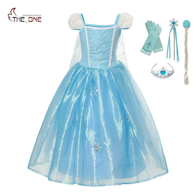 42a6548f5a8b MUABABY Girl Deluxe Elsa Dress Up Kids Sleeveless Fluffy Cinderella ...