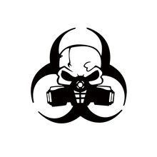Personalized Car Stickers Decals  Stying Biohazard Skull Vinyl Truck Window Jdm