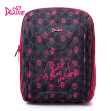 Delune Pink Owl Pattern School Bags For Girls Boy Cartoon Large Backpack Children Orthopedic Backpacks Primaty Mochila Infantil