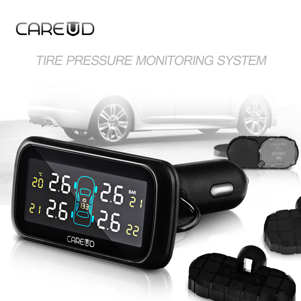 CAREUD Profession Auto Tire Pressure Alarm Sensor 4 Internal Sensors Tire Pressure Monitoring System TPMS Diagnostic Tool carchet tpms car tire pressure monitoring system auto diagnostic tool tire alarm intelligent system 4 external sensor for toyota