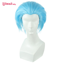L-email wig New The Seven Deadly Sins Ban Cosplay Wigs 30cm Blue Men Heat Resistant Short Synthetic Hair Perucas Cosplay Wig цена