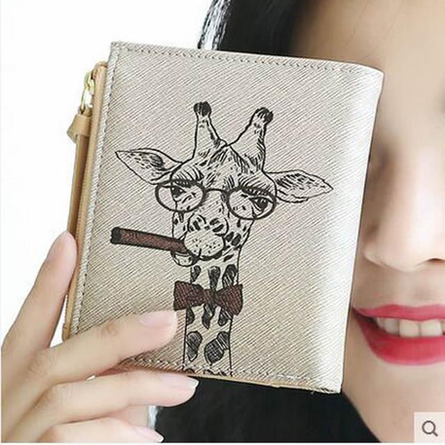c1e8b95b1 Marilyn Monroe jirafa hourse patrón animal prints mujeres corto Carteras  diferente lindo muchacha del estilo de
