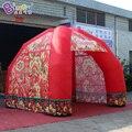 Индивидуальные 4X4X3 1 метров 4 типа ног надувной тент с цифровой печатью красный цвет надувной шатер Игрушка палатки