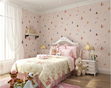 beibehang Boy girl fashion personality beautiful room blue butterfly 3d wallpaper interior full house background papel de parede