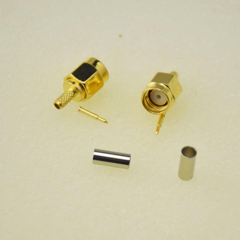 20pcs Adapter SMA Male Plug Crimp RG174 RG316 LMR100 Cable RF Connector dhl ems 2 lots 100pcs connector sma male plug crimp rg174 rg316 lmr100 cable straight d2