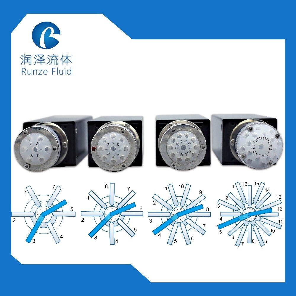 Valve de Distribution Programmable de haute précision d'analyse de laboratoire pour l'analyseur liquide