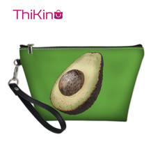 Thikin Fresh Avocado Makeup Bags for Women Cosmetic Bag Cool Summer Travel Handbag Case Girls Pouch Rock Storage Purse