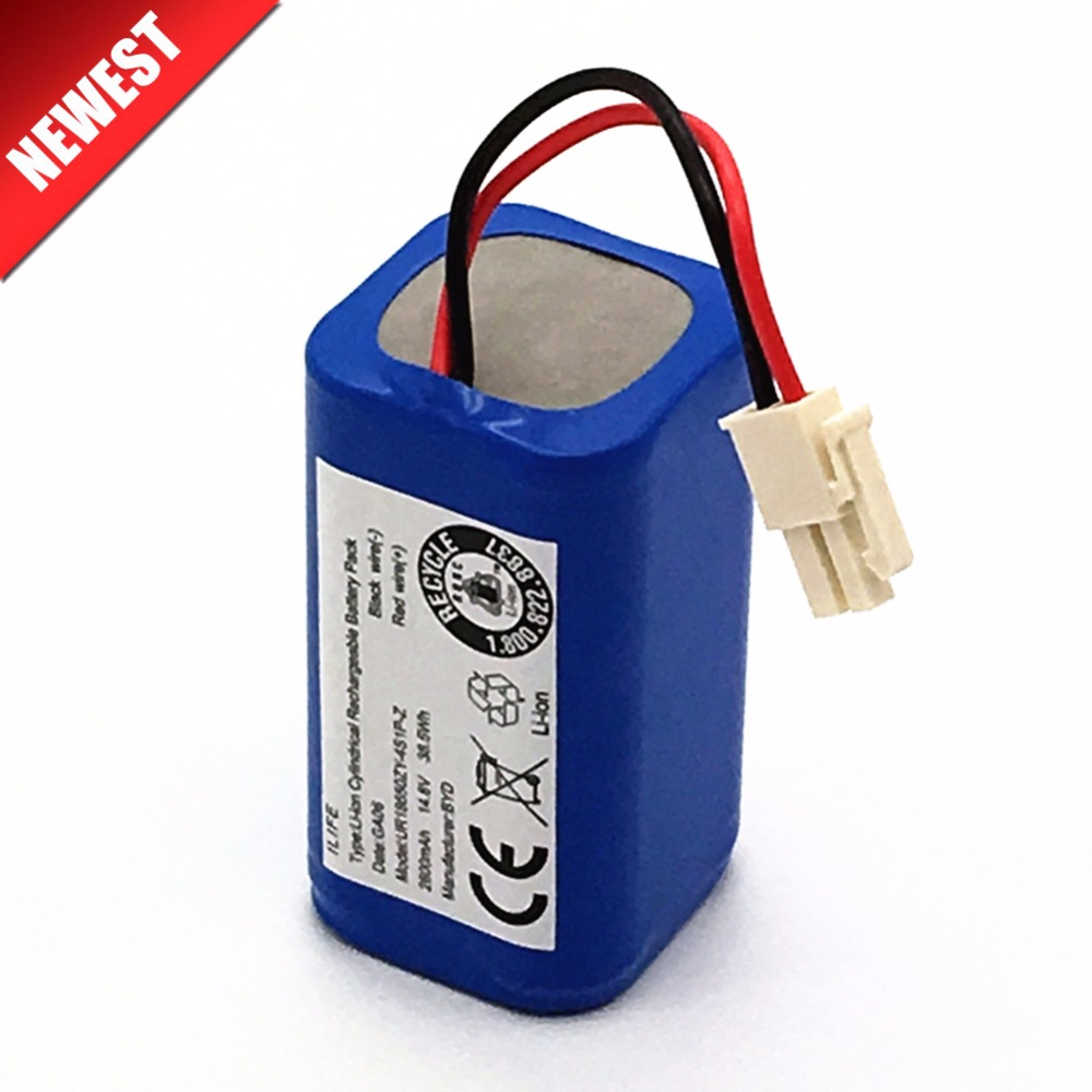 High Quality Rechargeable ILIFE Ecovacs Battery 14.8V 2800mAh Robotic Vacuum Cleaner Accessories Parts For Chuwi Ilife A4 A4s A6
