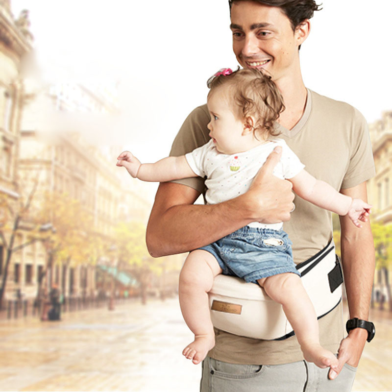 Baby Carrier Waist Stool Baby Sling Hold Waist Belt Cotton Hip Seat Side Carry Baby Walkers Bag Front Holder Wrap