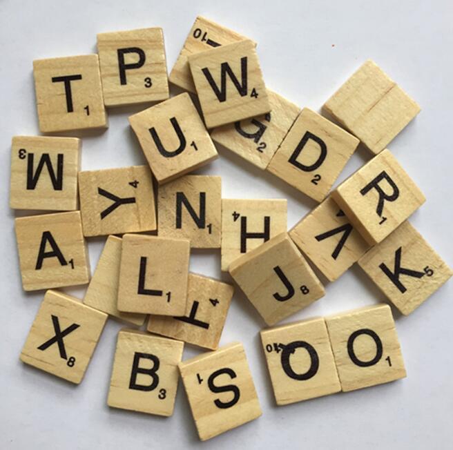100 шт./упак. деревянные головоломки Box Алфавит Эрудит Плитки письма головоломки квадратов для ремесла деревянные игрушки для мальчиков и дев...