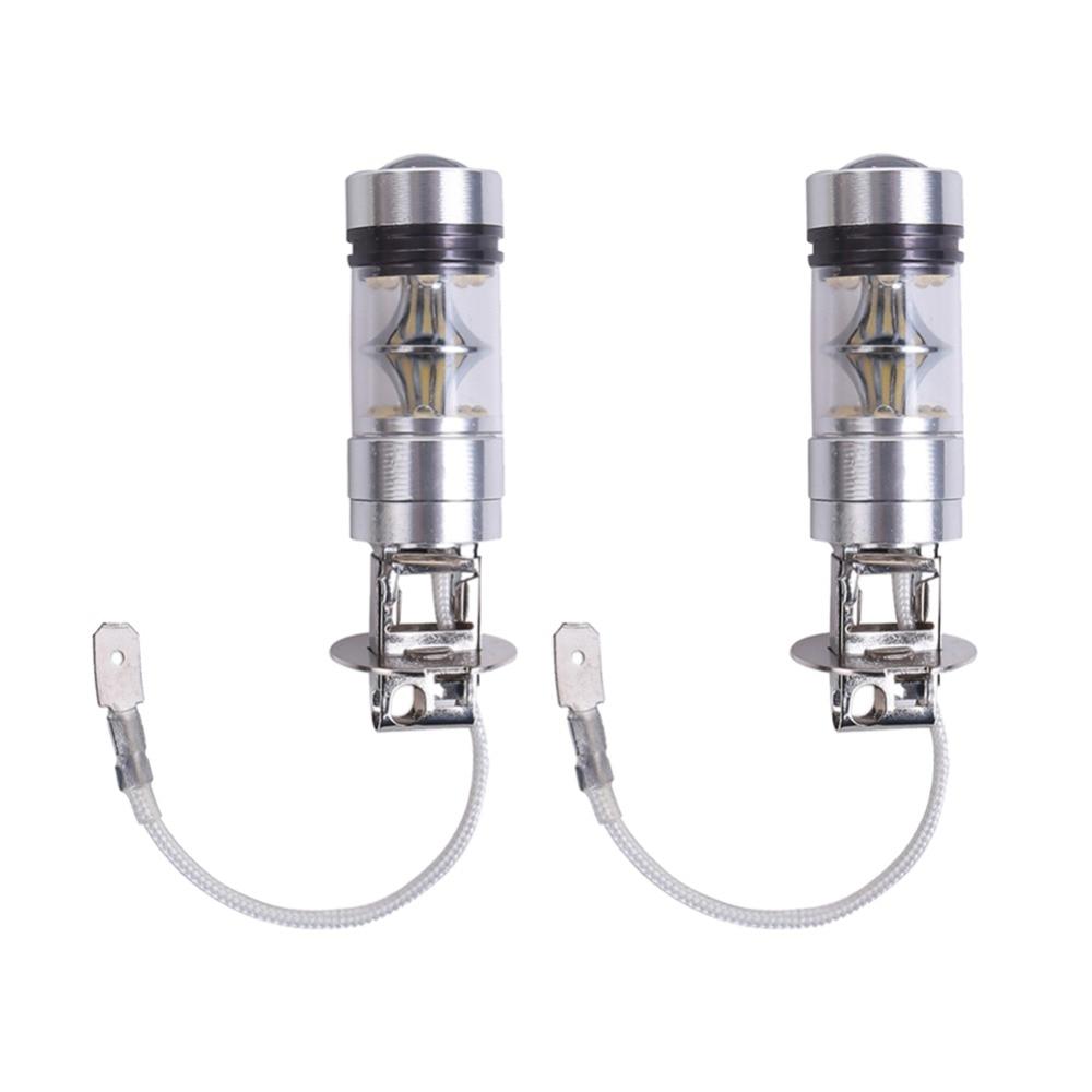 H3 100W Car LED Bulb 6500K 12V White Light LEDs Bulbs