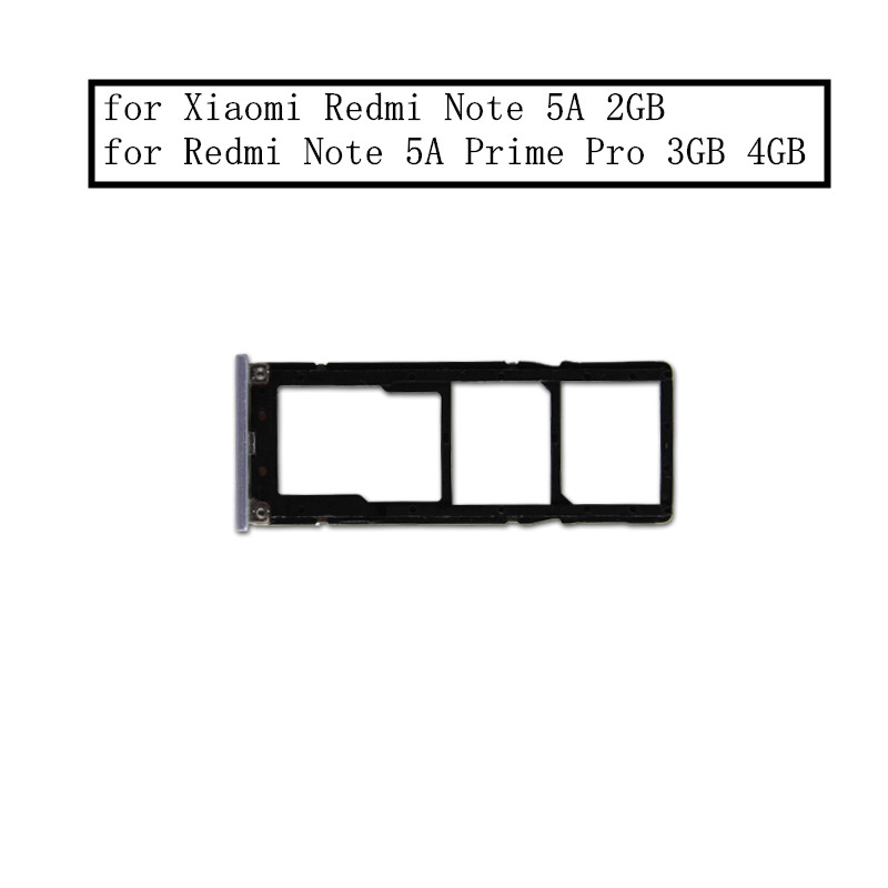 for xiaomi redmi note 5a   note 5a prime pro card tray holder sim card micro sd card slot adapter