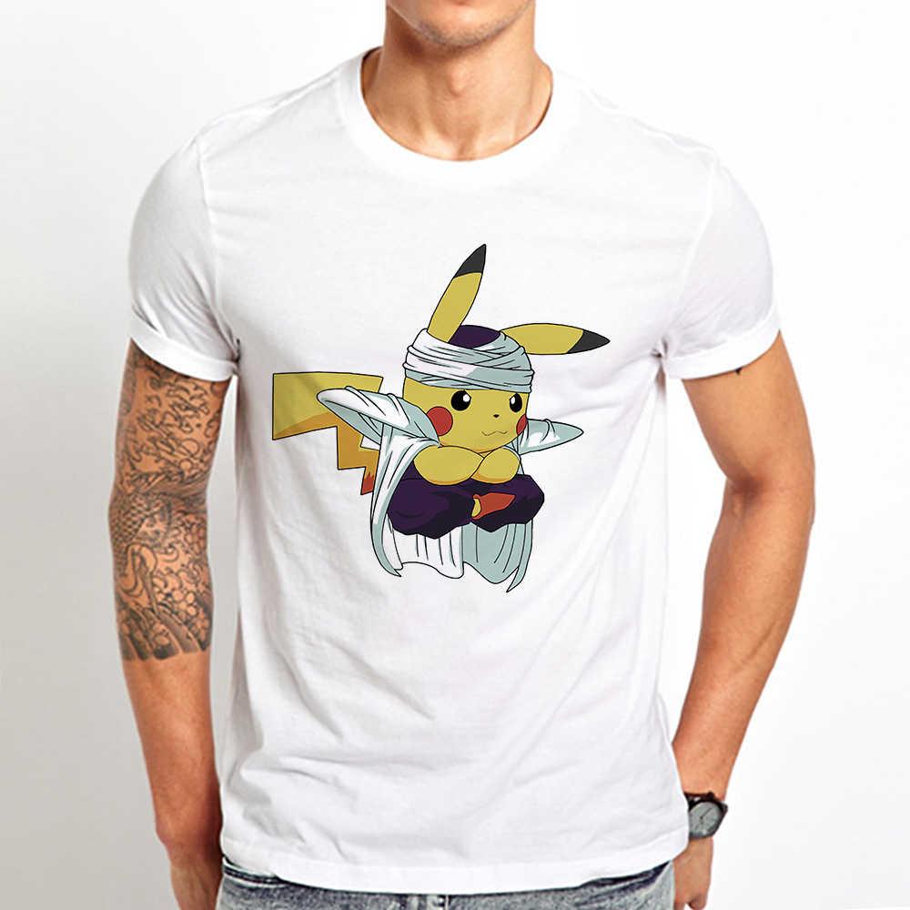 Namek pikachu Piccolo Pikalo divertida manga Camiseta Hombre 2019 verano nuevo blanco casual homme cool Japón anime camiseta