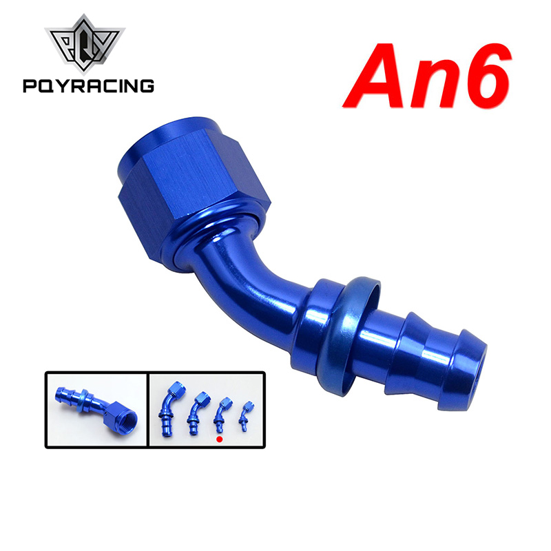 Analytical Pqy - An6 6an An-6 90 Degree Blue Push On Lock Socketless Hose End Fitting Adapter Pqy-sl2090-06-011
