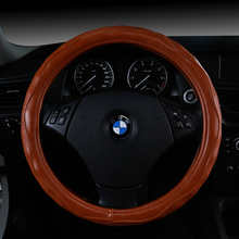 New  38CM Steering-wheel Cover Microfiber Leather Steering Wheel Covers Non-slip Skin Feel Car-cover Car-styling Accessories car styling steering wheel high quality food grade silicone car steering wheel cover with skin texture