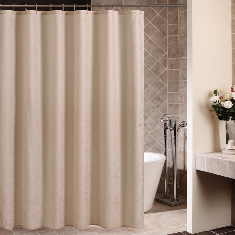SunnyRain 1 Piece Solid Color Geometrical Thick Shower Curtain Water ...