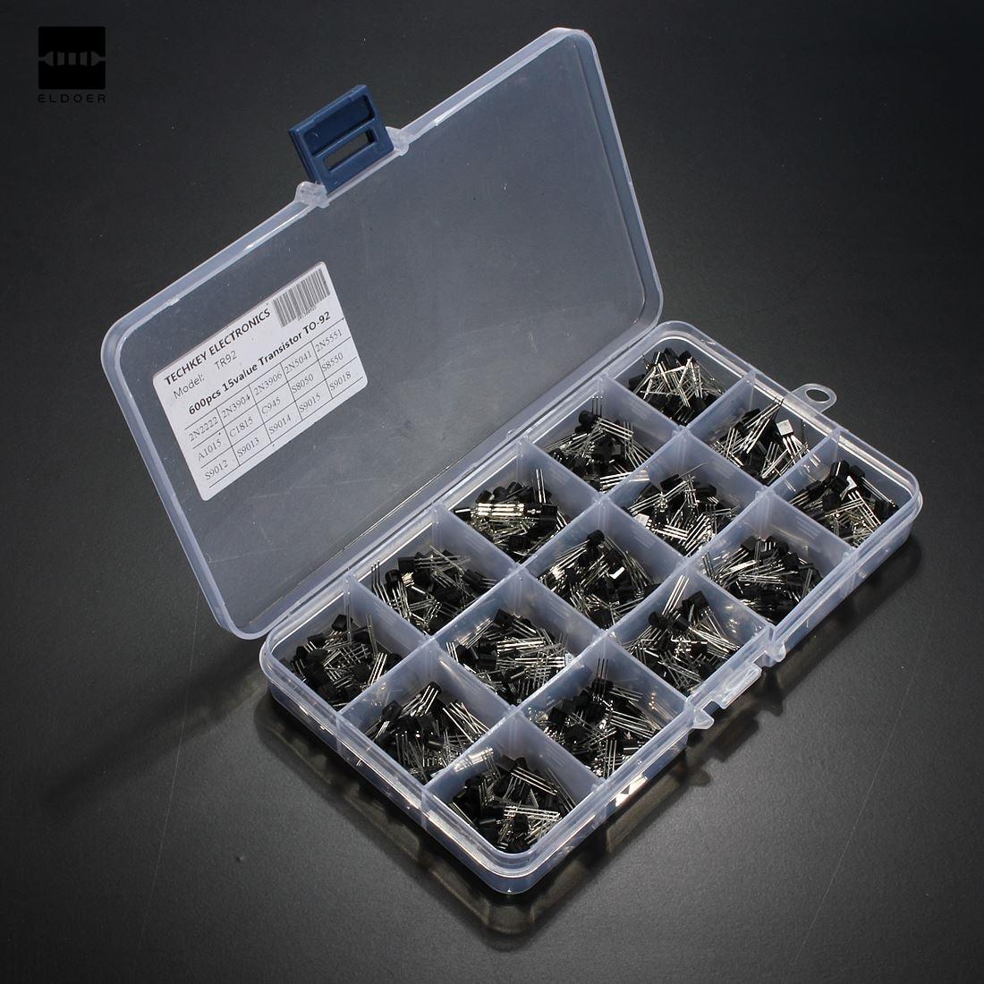 600Pcs New Arrival 15 Value X 40 Pcs Transistor TO-92 Assortment Box Kit Transistors