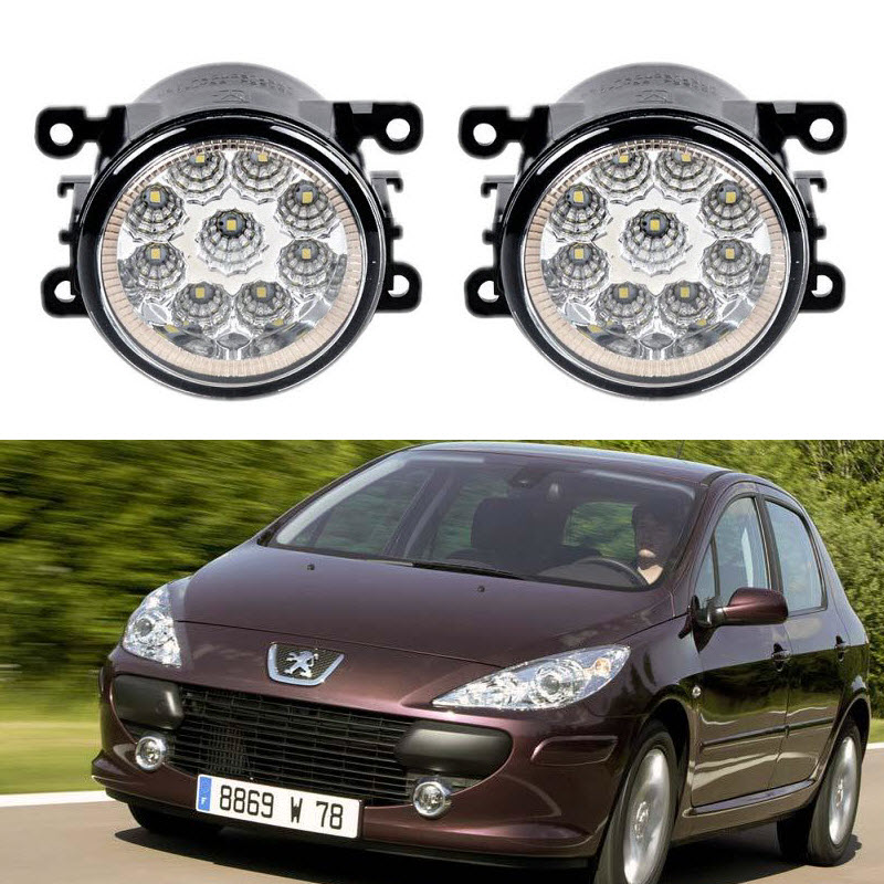 Car-Styling For Peugeot 307 Sedan 307 CC 307 Estate 9-Pieces Led Fog Lights H11 H8 12V 55W Fog Head Lamp for peugeot 207 sw estate wk