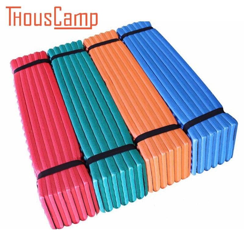 Outdoor ultralight foam camping XPE Folding egg slot picnic beach waterproof mat Tent sleeping <font><b>mattress</b></font> Dampproof Pad mesh bag