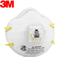 3M original 8210v Coolflow valve particles respirator mask pm2.5 dust N95 Respiratory Protection Adjustable noseclip