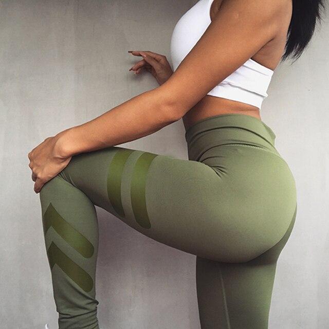 3 kolory Zielony Armii Sporting Legginsy Odzież Dla Kobiet Fitness Szybkie Suche Spodnie Wysoka Talia Legginsy Fitness Workout Legginsy