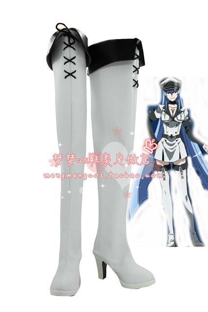Akame ga KILL Esdeath Cosplay Boots Esdese Anime Shoes Custom Made