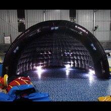 Бесплатная доставка 5X2,5X3 метров надувные черный купол иглу светодиодный освещения воздух палатка игрушка палатка