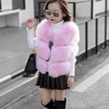 2016 autumn winter baby girl winter jacket sleeves faux fur vest fur vest clothes for infants