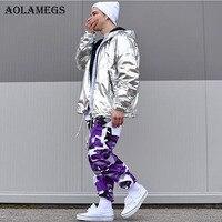 Aolamegs Camouflage Cargo Pants Men 8 Color Hip Hop Casual Pants Baggy Tactical Trouser Pockets Cotton 2017 Fashion Sweatpants