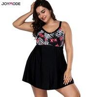 JOYMODE Black Skirt Fat Swimwear Women One Piece Swimsuit Push Up Beachwear Bathing Suit Swimwear Dress