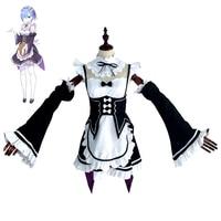 Anime Re:Zero kara Hajimeru Isekai Seikatsu Ram Rem Cosplay Dress Re Life in a different world Sexy French Maid Servant Costumes