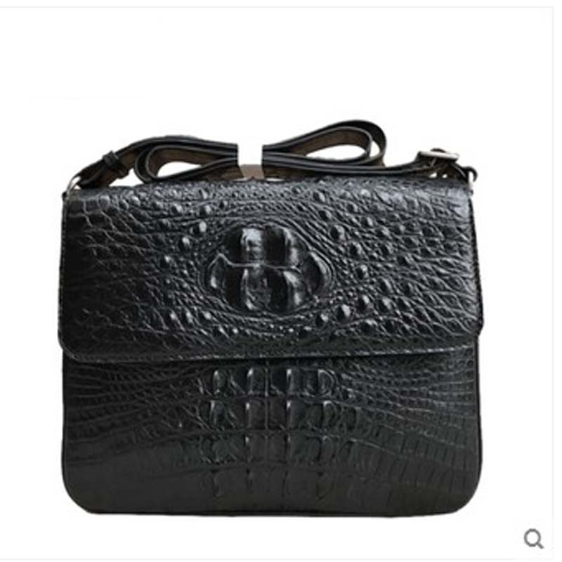 yongliang New crocodile leather men's handbag crocodile leather single shoulder men bag Messenger bag business package tihinco new authentic crocodile handbag single shoulder bag leather male fashion business and leisure bag document package