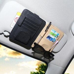 Car Card Storage Organizer Bag Glasses Holder Clip For Nissan TIIDA X-TRAIL TEANA Skoda Octavia Honda CRV KIA RIO Lada(China)