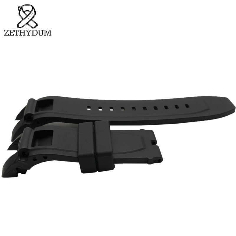 Black rubber silicone watch strap 24mm for invicta bracelet waterproof rubber watchband watch accessories watch belt for men