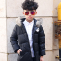 2016 Winter New Children's Down Jacket Long Thick Boy Winter Coat Duck Down Kids Winter Jackets for Boy Outerwear Fur Collar