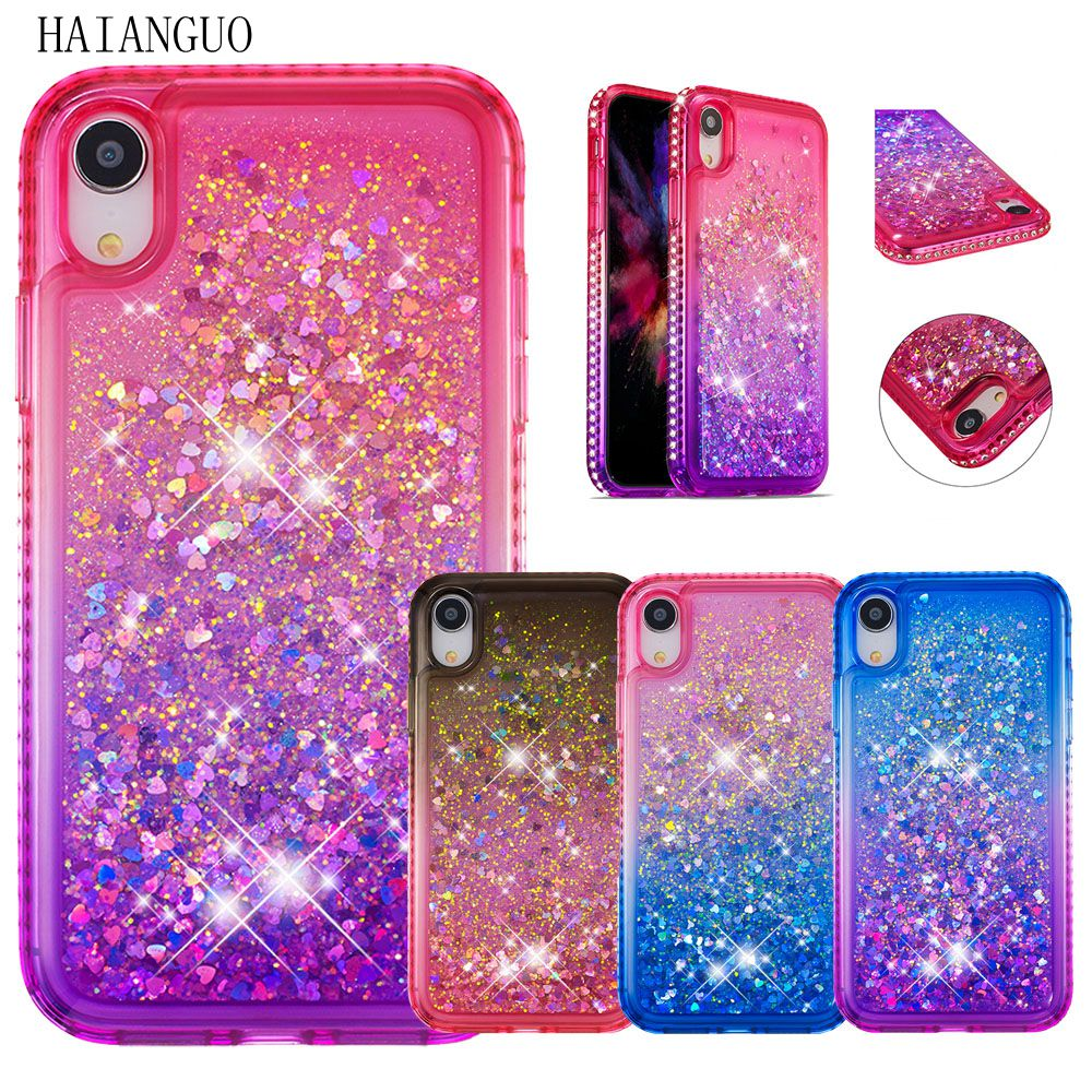 Quicksand Gradient For iPhone 7 7Plus 8 8Plus 6 6s Plus 5 5s SE X XS MAX XR Dynamic Liquid Case Cover For ipod touch 5 6 Capa