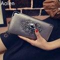 Aolen Carteras Para Mujeres 2016 Señoras de la Marca de Lujo Famosos Bolsos de Cuero Pequeña Bolsa Pequeña de Las Mujeres Del Diseñador Monedero de la Mujer Real