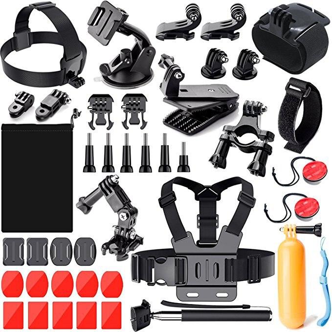 Pour GoPro 6 HERO5 4 3 accessoires de caméra d'action extérieure pour SJ4000/SJ5000/SJ5000X/SJ6 LEGEND/SJCAM M20 4 K/M10 WiFi/Xiao mi Yi 4 K