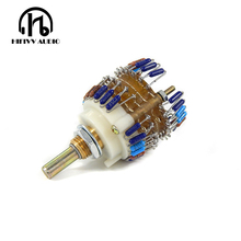 2 channels Volume potentiometer 10K/50K/100K/250K/500K Dale 23 Step Attenuator for amplifier Better than alps