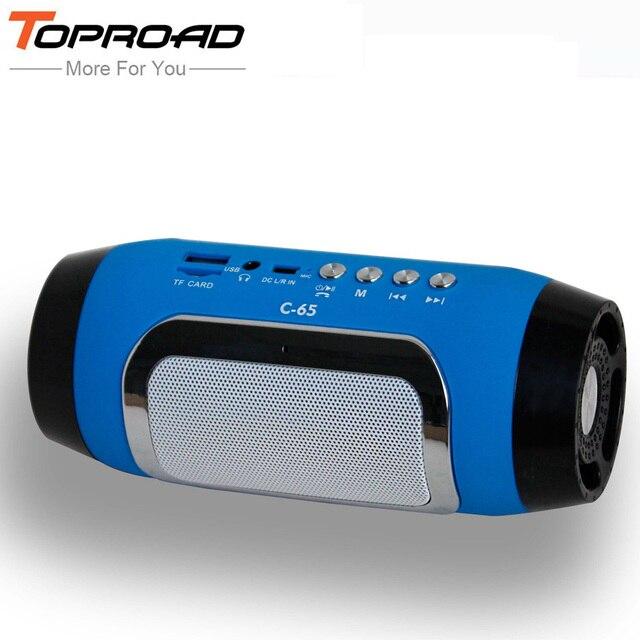 TOPROAD HIFI altavoz portátil inalámbrico Bluetooth Estéreo barra TF FM Radio música Subwoofer columna oradores para teléfonos de computadora