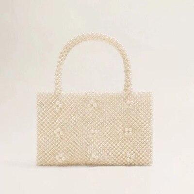 แฟชั่น Handmade Pearl กระเป๋าคุณภาพสูง Messenger แพ็คเก็ตหรูหรากระเป๋าสะพายยี่ห้อกระเป๋าบิ๊กสแควร์แพคเกจ sac a หลัก-ใน กระเป๋าหูหิ้วด้านบน จาก สัมภาระและกระเป๋า บน AliExpress - 11.11_สิบเอ็ด สิบเอ็ดวันคนโสด 1