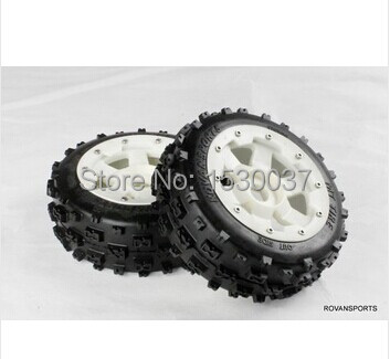 1/5 Scale RC KM RV HPI Baja 5B Buggy Knobby Front Wheels &Tires (2) free shipping 5b baja front road tires set 85029 2