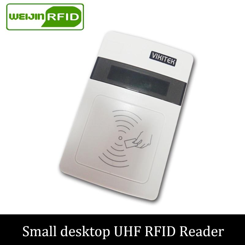 UHF RFID reader writer VIKITEK VFR08 USB port 915mhz 900mhz 868mhz passive rfid tag label inlay card sticker copier encoder uhf readers 18000 6b card 915 uhf long range card ic card uhf rfid paper tag sticker passive uhf paper windshied tag cheap tag