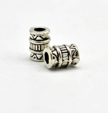 1pc Antique Silver Viking Ancient Totem Charms Beads for Bracelets for Pendant Necklace DIY for Beard Hair Beads C18(China)
